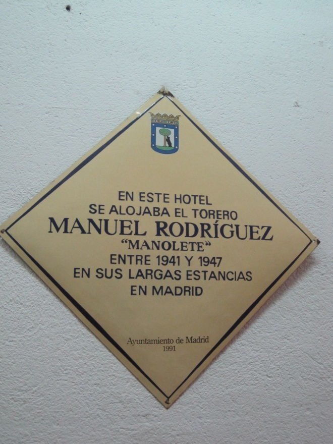 Placa Manolete Madrid